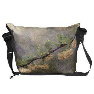 Flower Yellow Blossom Messenger Bag