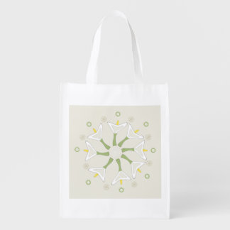 Flower Zen Reusable Grocery Bag