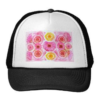 Flower ZINNIA Collage - Enjoy n Share JOY Cap