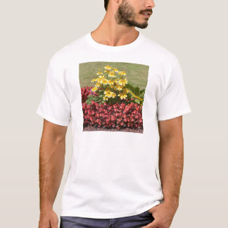 Flowerbed of coneflowers and begonias T-Shirt
