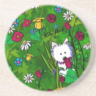 Flowerbed Westie Dog Coaster