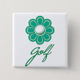 Flowerboom Golf 15 Cm Square Badge
