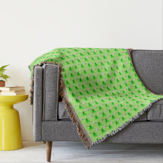 Flowerchain by The Happy Juul Company Throw Blanket