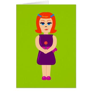 Flowerchild Girl Card