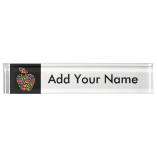 Flowered Apple Nameplate