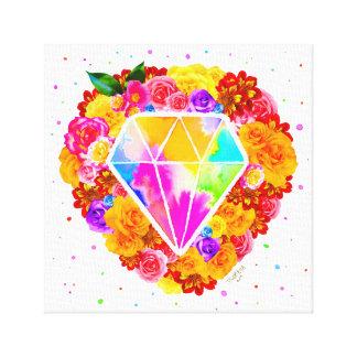 Flowered Diamond Canvas Print