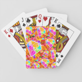 Flowered Diamond Playing Cards