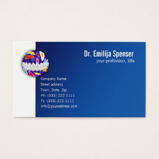 Flowered Dot White Smile Dentist Business Card