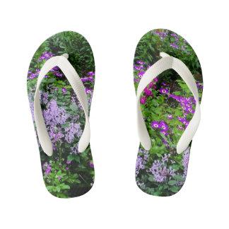 flowered flip-flops kid's thongs