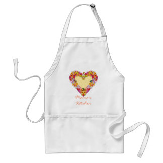 Flowered Heart Standard Apron