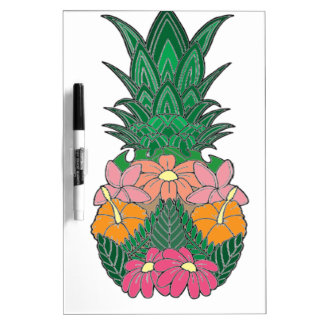 Flowered Pineapple Dry Erase Board