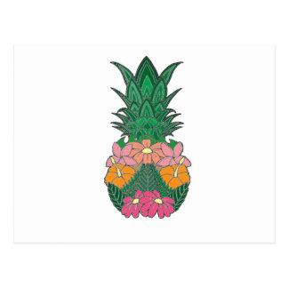 Flowered Pineapple Postcard