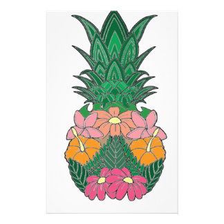 Flowered Pineapple Stationery