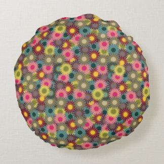 Flowered round cushion