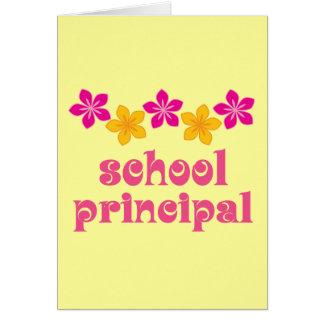 Flowered School Principal Card
