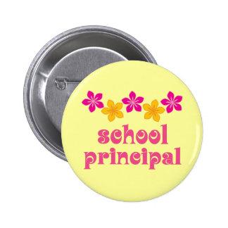 Flowered School Principal Pin