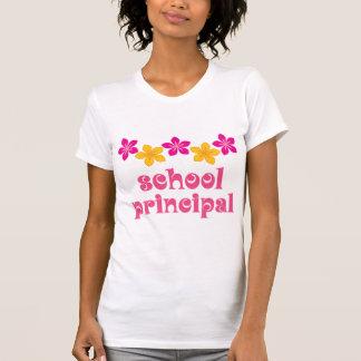 Flowered School Principal T-shirts