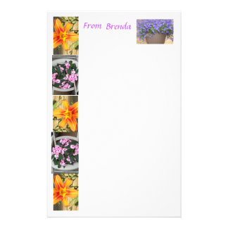 Flowered stationery    .... from Brenda    ST3