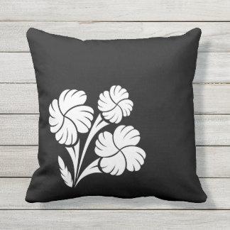 Flowered trio… throw pillow