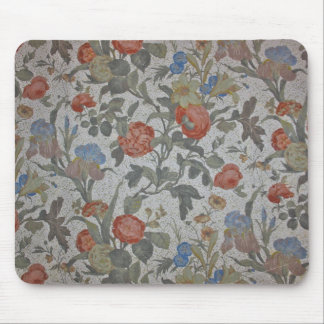 Flowered Wallpaper Mouse Pad