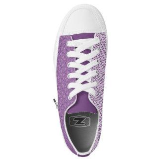 Floweretts in Purple Printed Shoes