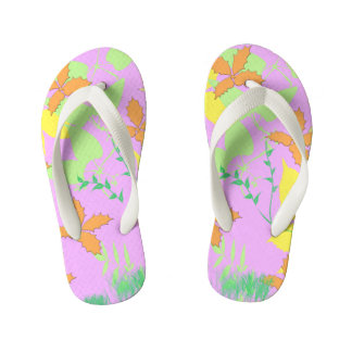Flowerful Kids Flip Flops
