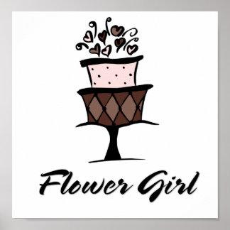 flowergirlcake poster