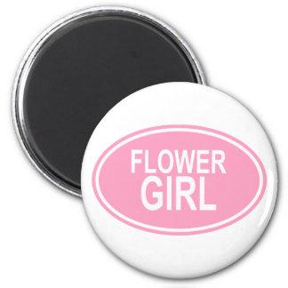 FlowerGirlWedding Oval Pink 6 Cm Round Magnet