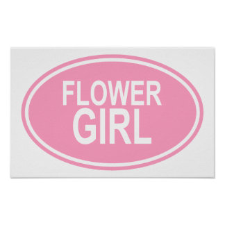 FlowerGirlWedding Oval Pink Posters