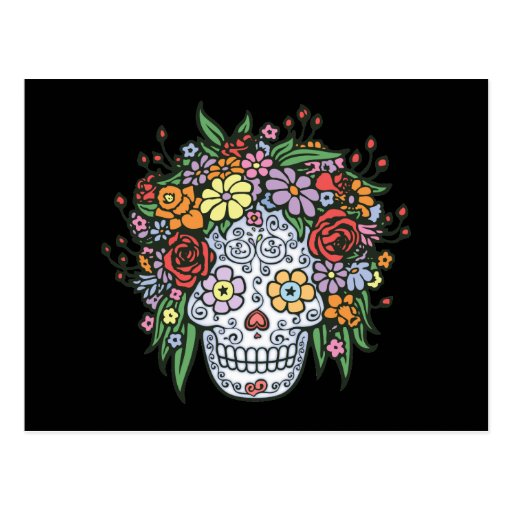 Flowerhair Sugar Skull Postcards