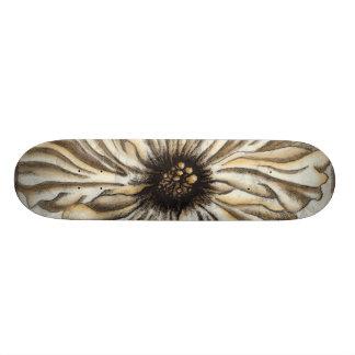 Flowerhead Fresco on Tan Background Skateboards