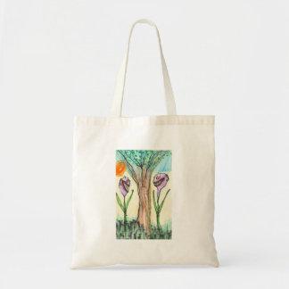 Flowering Aliens Tote Bags