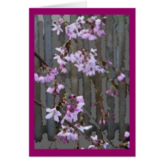 Flowering Cherry Blossoms card
