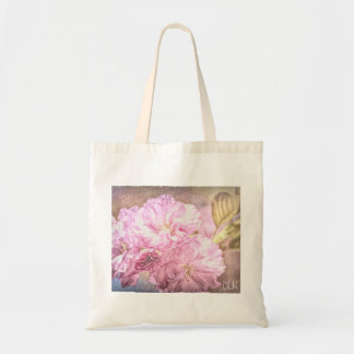Flowering Cherry/ Watercolor Look/ Floral Art Tote Bag