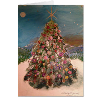 Flowering Christmas Tree Card