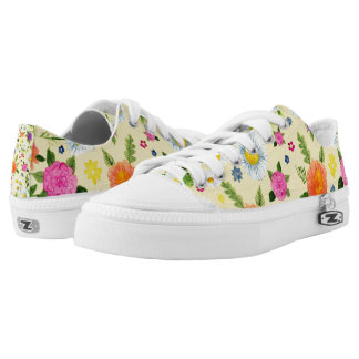 Flowering Daisy Time Printed Shoes