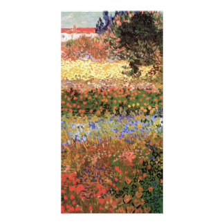 Flowering Garden  by Vincent van Gogh Custom Photo Card