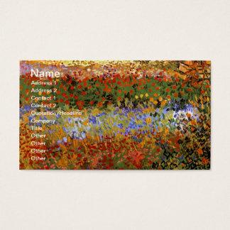 Flowering Garden (F430) Van Gogh Fine Art Business Card