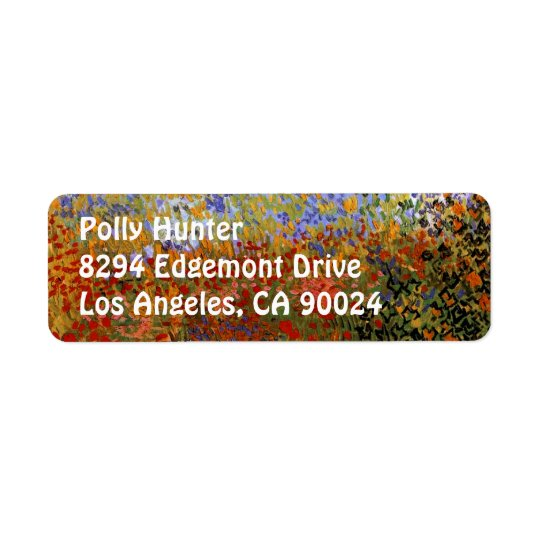 Flowering Garden (F430) Van Gogh Fine Art Return Address Label