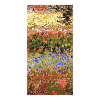 Flowering Garden,  Vincent van Gogh. Personalized Photo Card