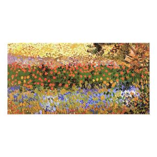 Flowering Garden Vincent van Gogh Photo Greeting Card