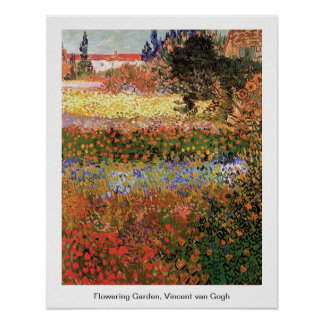 Flowering Garden, Vincent van Gogh. Poster