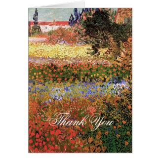 Flowering Garden, Vincent Van Gogh. Thank you Greeting Card