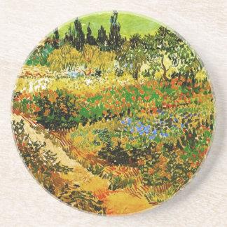 Flowering Garden with Path Van Gogh Fine Art Beverage Coaster
