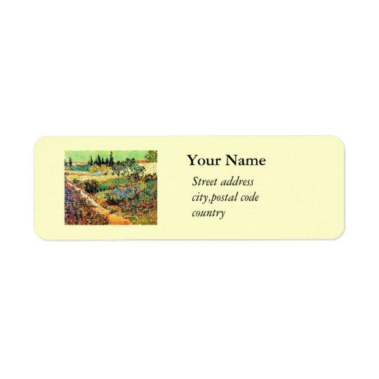 Flowering Garden with Path, van Gogh Return Address Label