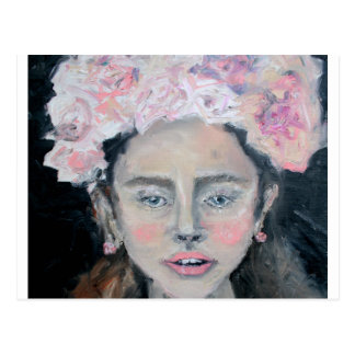 Flowering girl postcard