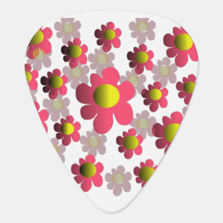 Flowering guitar pick