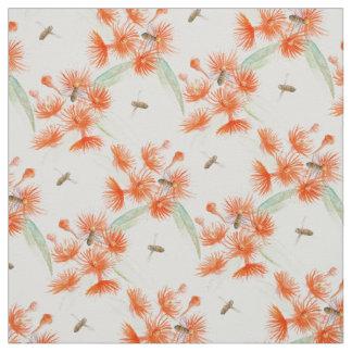Flowering gum watercolor fabric