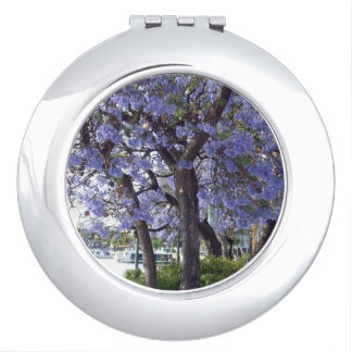 Flowering Jacaranda Trees On River Murray, Compact Mirrors