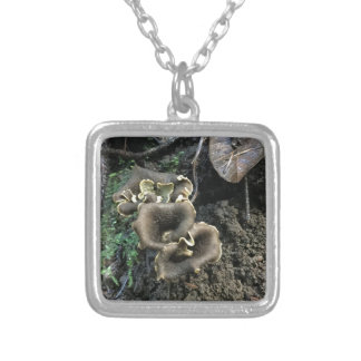 Flowering Mushrooms Silver Plated Necklace